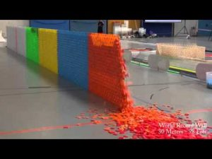 128,000 Dominoes Falling into past a journey